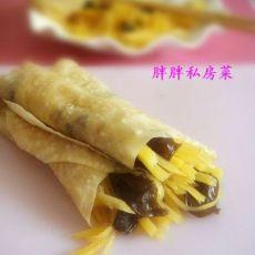 木耳土豆丝春饼