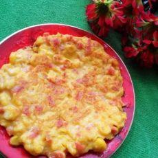香煎黄金玉米火腿饼
