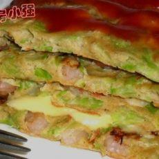 蔬菜虾仁蛋饼的做法