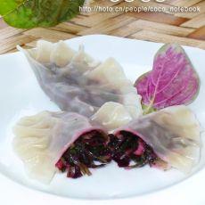 红苋菜素饺的做法