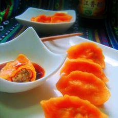 南瓜猪肉香菇水饺