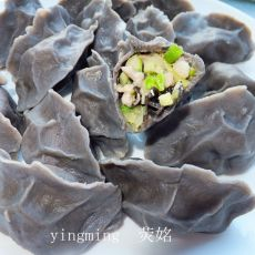 黑豆面粉饺子