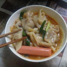 火腿肠煮饺子的做法