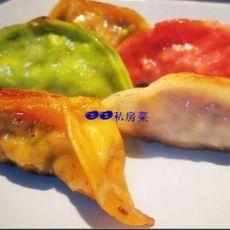 五色煎饺的做法