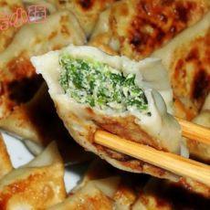 香菜猪肉馅水煎饺