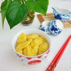 南瓜鸡肉香菇小水饺的做法