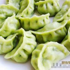 玉米馅翠绿饺