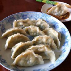 苔菜鸡蛋素饺子