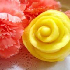 多彩玫瑰馒头
