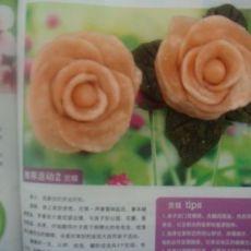 Q糖粉色玫瑰馒头