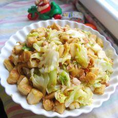 肉丝包菜炒馒头