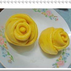 南瓜玫瑰馒头