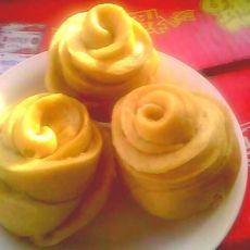 黄色玫瑰花馒头