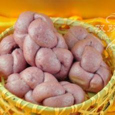 紫薯辫子馒头