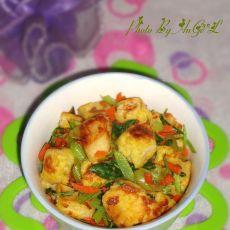 蛋香青菜黄金馒头粒的做法