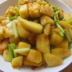 蒜苔鸡蛋炒馒头的做法