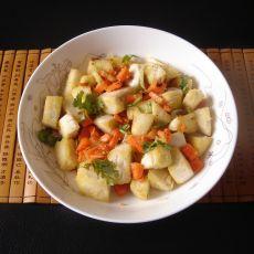 胡萝卜炒馒头