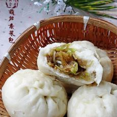 美味素食---葫芦素菜包