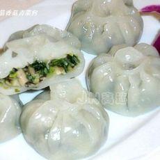 水晶香菇青菜包