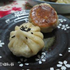 莲藕猪肉水煎包的做法