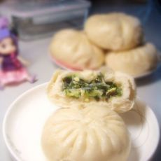 韭菜素三鲜蒸包
