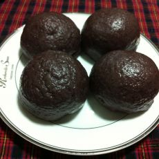黑米面红豆包