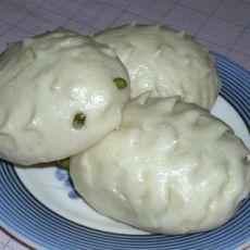 绿豆沙刺猬包