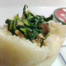 香菇油渣青菜包