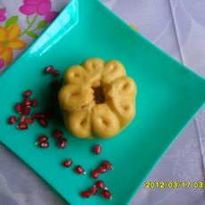 豆沙石榴包的做法