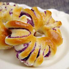 紫薯花卷的做法