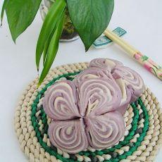 紫薯蝴蝶双色卷
