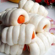 胡萝卜腊肠卷