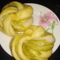 三色奶黄花卷