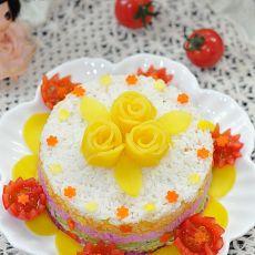 彩虹米蛋糕的做法