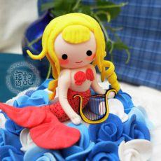 翻糖造型蛋糕――海的女儿