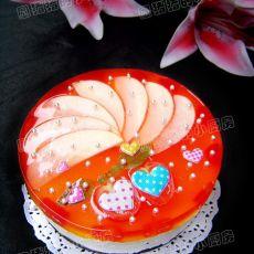 水晶果冻蛋糕
