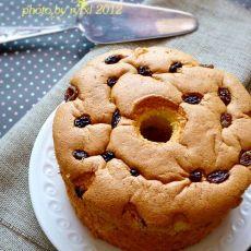 葡萄干戚风蛋糕的做法