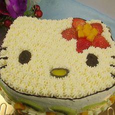KITTY猫水果奶油蛋糕(附详细)