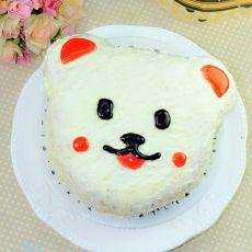彩虹小熊蛋糕