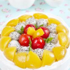 水果奶油可可戚风蛋糕