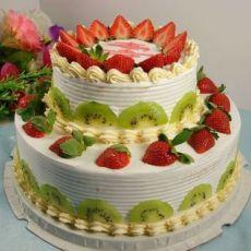 10+6双层水果奶油蛋糕