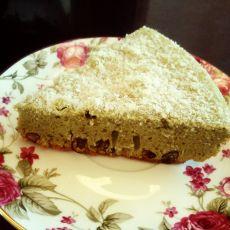 椰蓉抹茶蜜豆蛋糕