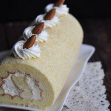 杏仁奶油蛋糕卷