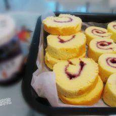 蓝莓酱蛋糕卷的做法