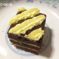 可可奶油夹心蛋糕的做法