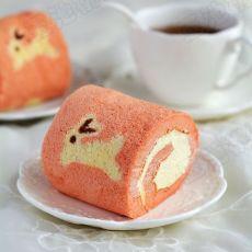 小兔子奶油蛋糕卷的做法