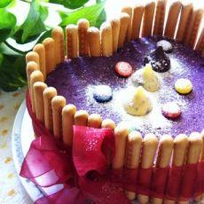 紫薯免烤蛋糕