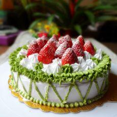 奶油草莓芝士蛋糕