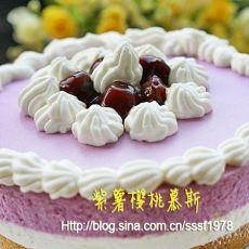 紫薯樱桃慕斯