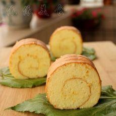 菠萝戚风蛋糕卷